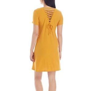 NWT Pink Rose Mustard Soft T-shirt Dress S